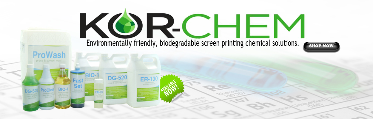 KOR-Chem Screen Printing Chemicals