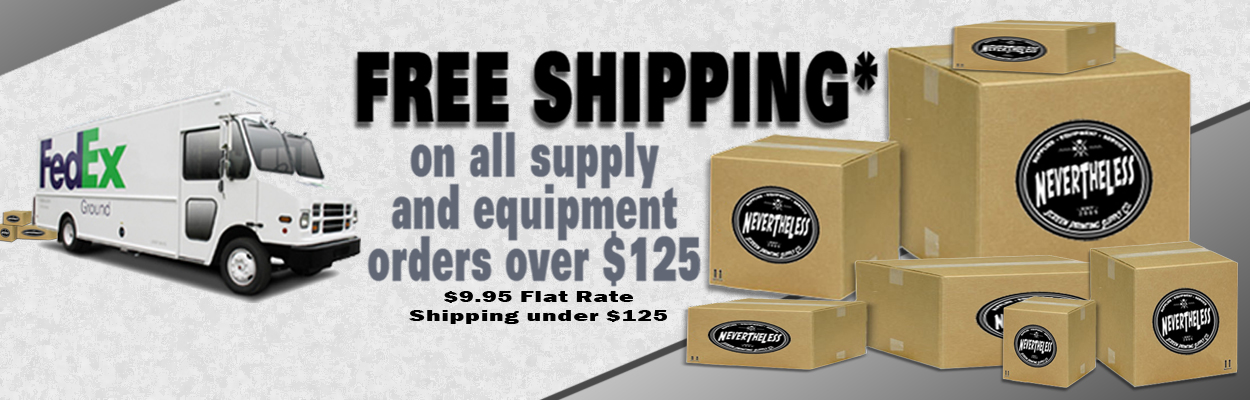 Free Shipping on All Supply & Equipment Orders Over $125