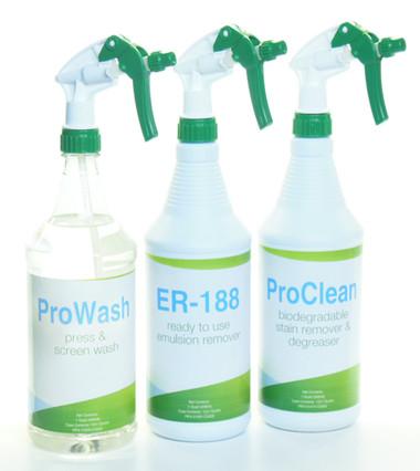 Kor Chem Screen Cleaning Starter Kit ER-188 ProClean ProWash quart pint gallon