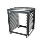 Screen Rack / Shop Cart - Metal Tray Top Option