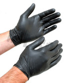 5 Mil Black Nitrile Gloves - 100 pack box