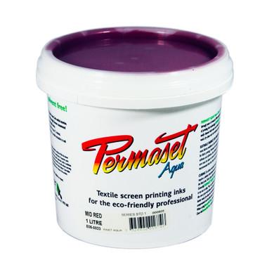 Permaset Aqua Standard Waterbased Ink - Mid Red