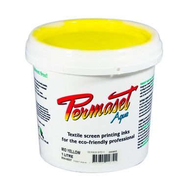 Permaset Aqua Standard Waterbased Ink - Mid Yellow