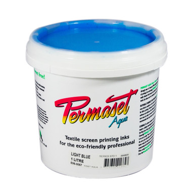 Permaset Aqua Standard Waterbased Ink - Light Blue