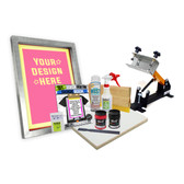 DIY Poster Printing Kit with Shocker Press & Preburned Screen