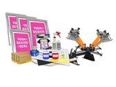 DIY 4 Color Shocker© Semi-Pro Screen Printing Kit with Pre-burned Screens