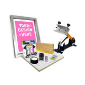 DIY Shocker© 101 Screen Printing Kit with Pre-burned Screen
