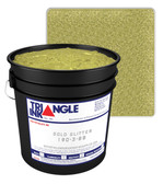 Triangle Plastisol Ink - Gold Glitter 190-3-88