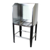 Quick Clean QCX-2432 Econo Washout Booth with LED Backlight Attachment