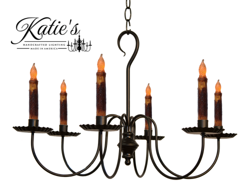 Katies handcrafted lighting wilcox chandelier made in the usa katies handcrafted lighting wilcox candle chandelier finished in aged black finish aloadofball Choice Image