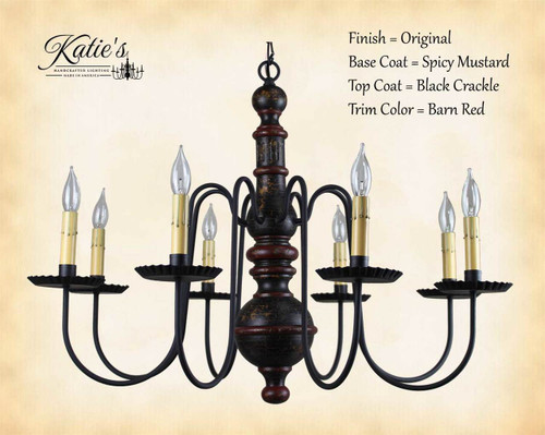 wood chandelier lighting.  Wood Katieu0027s Handcrafted Lighting Hamilton Wood Chandelier Pictured In Original  Finish Base Coat Color U003d With 5