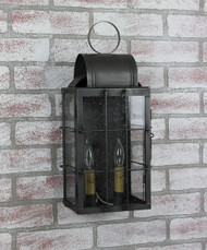 Katie's Handcrafted Lighting Medium Danbury Outdoor Wall Lantern - Dark Brass