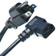 6 Foot Right Angle Power Cable