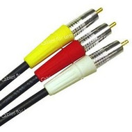 Super High Quality Individual 50 Foot 3 Way RCA Audio And Video Cables
