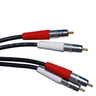 Super High Quality Individual 75 Foot RCA Cables, Red And White, RCA To RCA