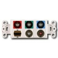 PowerBridge Decora Insert, HDMI + Component Video + Stereo Audio