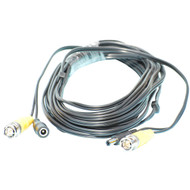 25 Foot Video (Male BNC) and Power Combo Security Camera Cable
