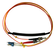 3 Meter ST- 62.5/125 MM/LC- SM Mode Conditioning Fiber Optic Patch Cable (LC Equip / ST Plant)