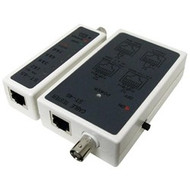 Economy Network Cable Tester - RJ11, RJ12, RJ45 and BNC
