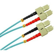 3 Meter Fiber, Multimode 50/125, Duplex, Yellow Jacket, LC/LC