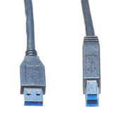 15ft USB 3.0 A Male to B Male Cable, Black