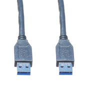 10ft USB 3.0 A Male to A Male Cable, Black