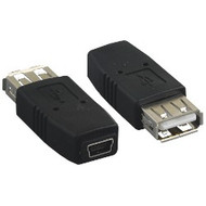 Adapter, USB A Female to Mini B 5 pin Female
