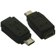 Adapter, USB Micro B Male to Mini 5 pin Female