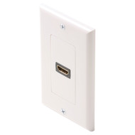 HDMI Single Wall Plate, Female To Female, White