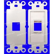 Decorator Keystone Style Single White Insert