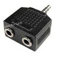 Stereo Splitter - Male 3.5mm Plug To 2x Female 3.5mm Plugs