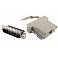 CLOSEOUT - No Returns On DISCONTINUED Items, Networking RJ45 (8P8C) To DB25 Female Adapter
