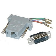 Networking RJ45 (8P8C) To DB15 Male Adapter