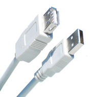 1 Foot USB 2.0 Cable, A Male To A Female, Gray
