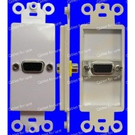 VGA Single HD15 Female To Female Wall Plate, White