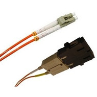 3 Meter Fiber, Multimode 50/125, Duplex, LC Male/SC Female (Coupler Included)