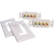 CLOSEOUT In-Wall White Passive Component Video With Digital Audio Balun (Pair)