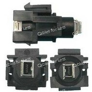 Keystone Connector Firewire 4 Pin, Black