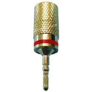Pin Style Red Screw-On, High Conductivity Speaker Terminal