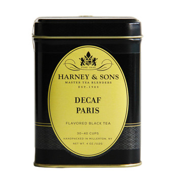 This is the decaffeinated version of Harney & Sons Paris.