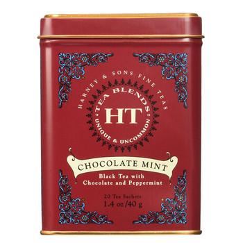 Harney & Sons HT Chocolate Mint 20 Sachet Tin