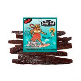 Mooie Louie Made from Jerky Hut Prime, thick cut beef jerky seasoned with a touch of crushed red chilies to satisfy those who desire a spicier Teriyaki Flavor. Taste Great - Moo-Filling!
