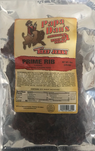 Prime Rib Jerky with Au Jus Flavor