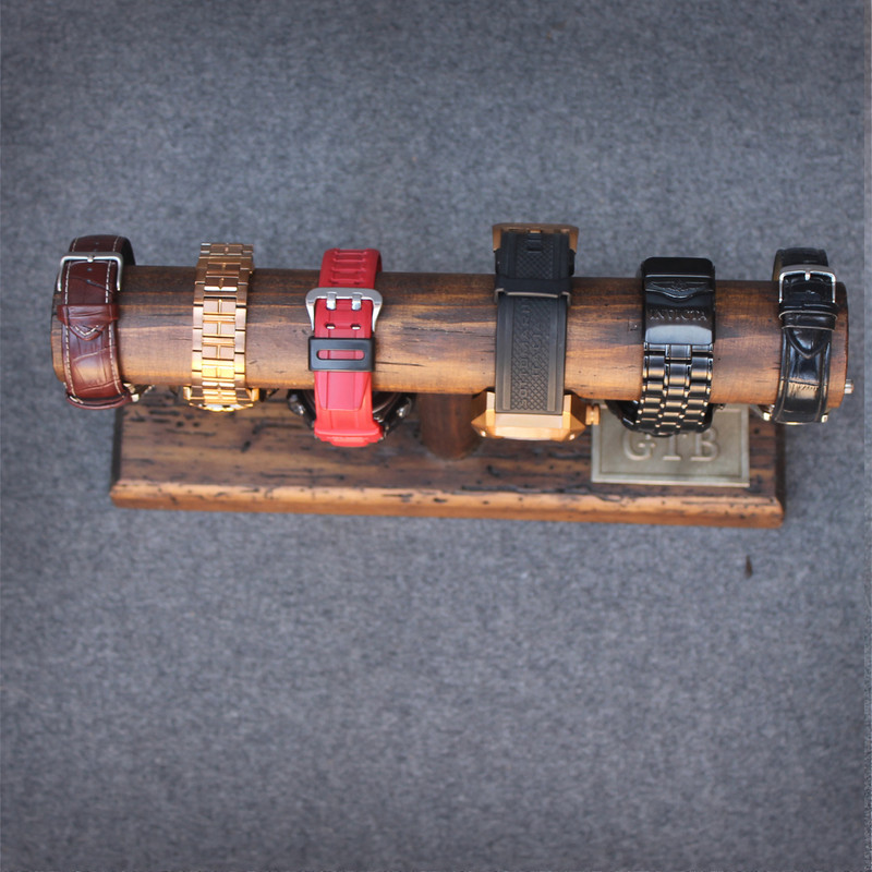 Personalized Rustic Watch Storage Display