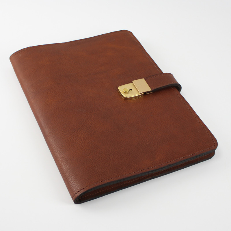 Leather Portfolio with Lock