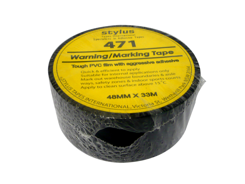 48mm 471 Floor Marking Tape 33mtr roll BLACK