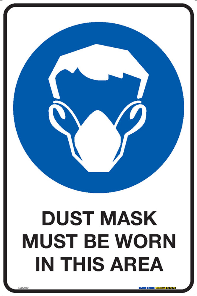 DUST MASK MUST BE WORN IN THIS AREA 300x450 MTL