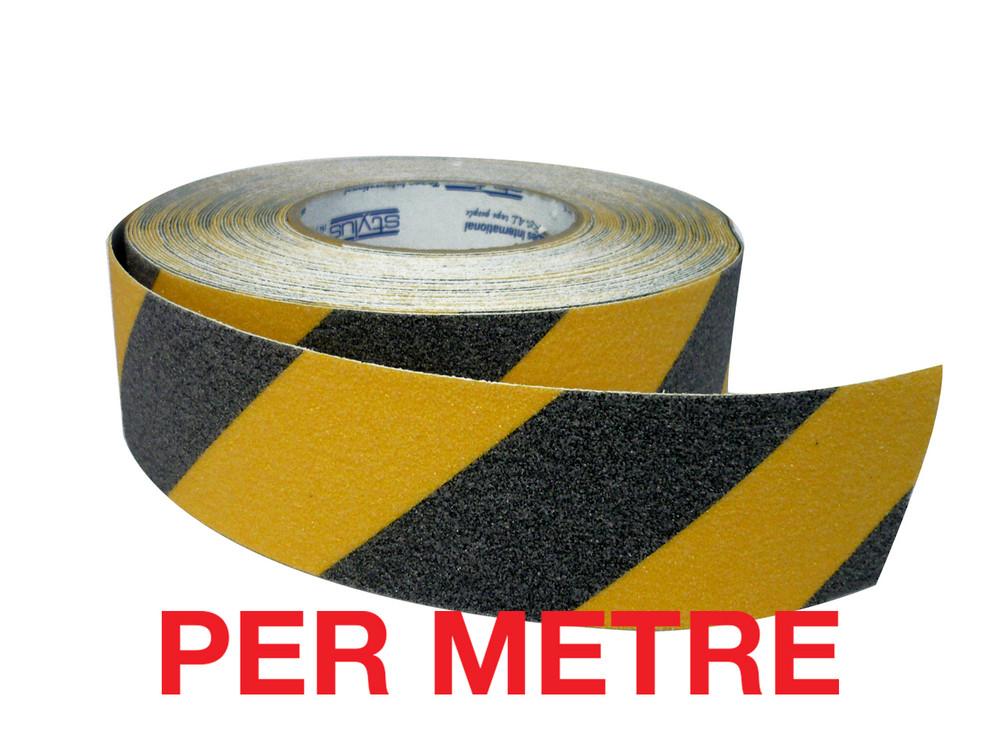 50mm Anti-Slip Tape BLACK/YELLOW - PER METRE