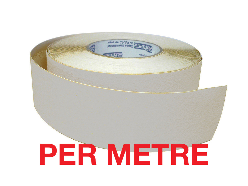 50mm Anti-Slip Tape CLEAR (opaque) - PER METRE