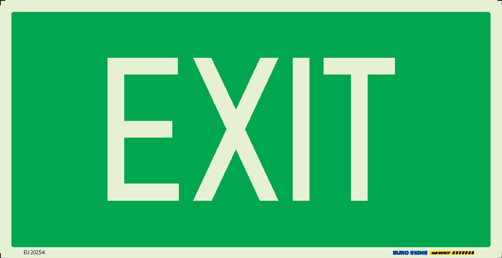 EXIT 350x180 LUMINOUS METAL